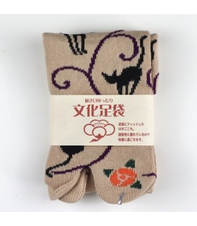 Calcetines TABI Kuroneko momo mujer 36-39