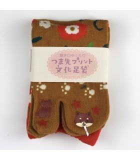 Calcetines TABI Deco Shibainu mujer 36-39